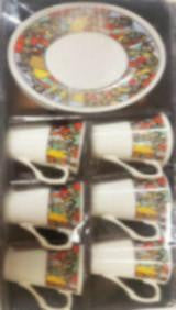 Ethiopian Ceramic Coffee Cups - 6 Piece
