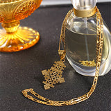 Ethiopian Gold Wedding Cross Pendant Jewelry