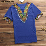 African Men T Shirt V Neck