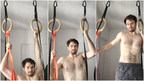 Band Assisted One Arm Pull Up Ring