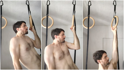 Slow Negative One Arm Pull Up Ring
