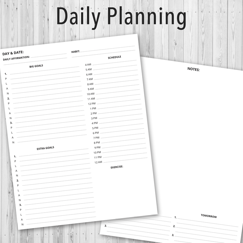 Printable PDF Personal Planner, Daily Planning