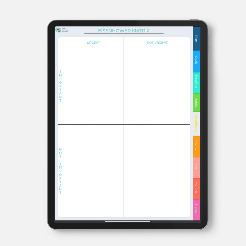 Digital Planner for Goodnotes, Notability or similar apps