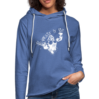 Beast It Up Women's Lightweight Terry Hoodie - White Logo - Favoured Tees