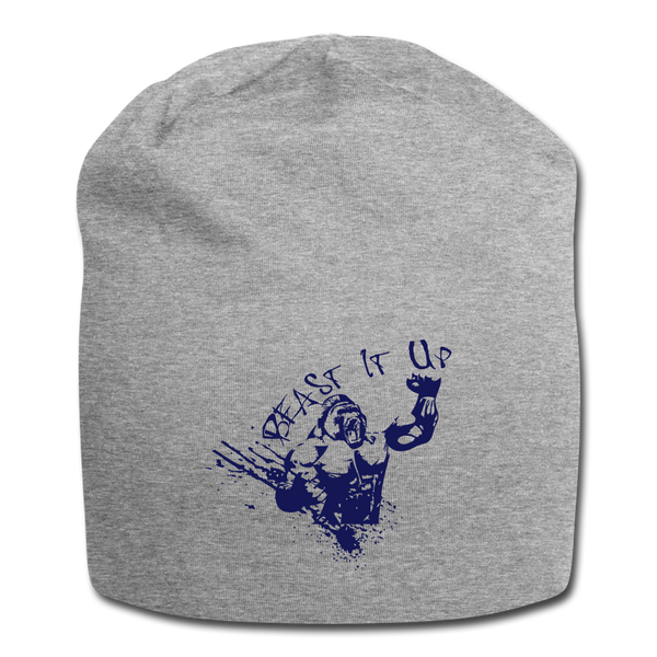Beast It Up Jersey Beanie - Blue logo - Favoured Tees