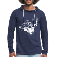 Beast It Up Men's Lightweight Terry Hoodie - White Logo - Favoured Tees