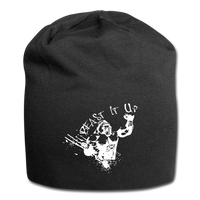 Beast It Up Jersey Beanie - White Logo - Favoured Tees