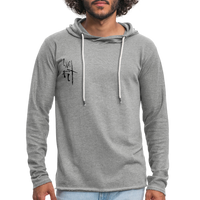 I AM Fit Men's Lightweight Terry Hoodie - Black logo - Favoured Tees