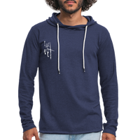I Am Fit Men's Lightweight Terry Hoodie - White Logo - Favoured Tees
