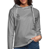 I Am Fit Women's Lightweight Terry Hoodie - Black Logo - Favoured Tees