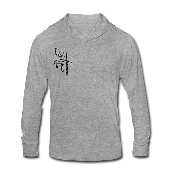 I Am Fit Women's Tri-Blend Hoodie Shirt -Black Logo - Favoured Tees