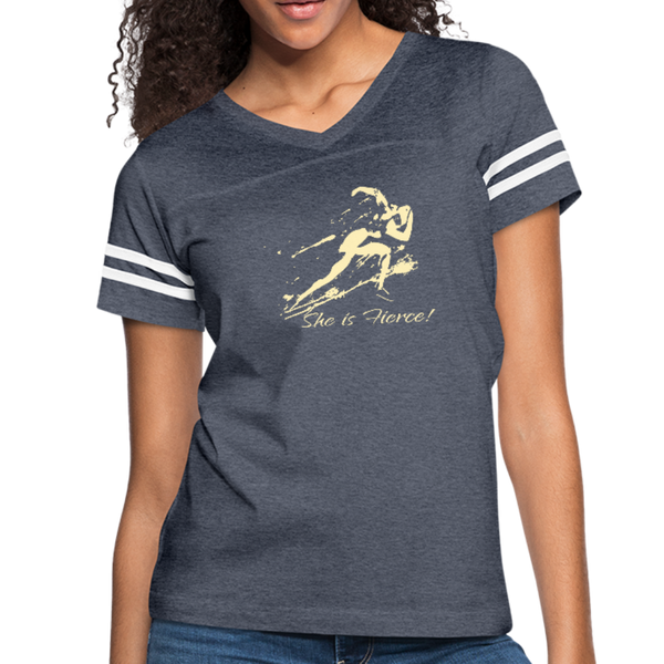 She Is Fierce Women's Vintage Sport T-Shirt - Favoured Tees