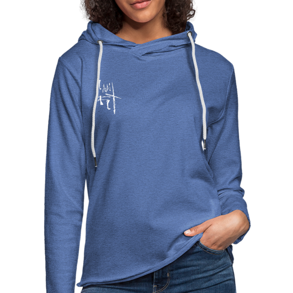 I Am Fit Women's Lightweight Terry Hoodie - White Logo - Favoured Tees
