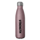 Strength & Power Insulated Stainless Steel Water Bottle - Favoured Tees