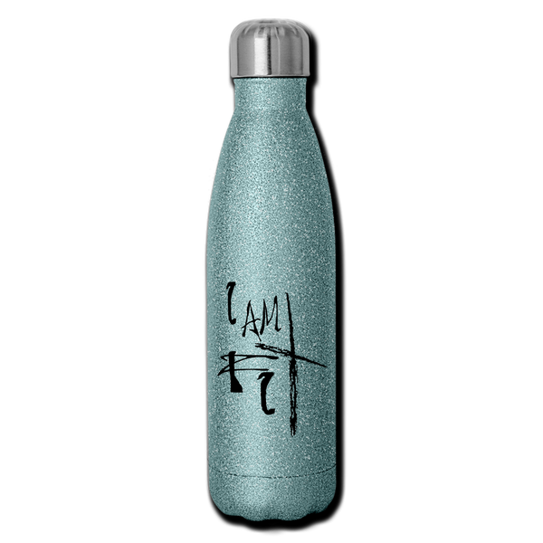 I Am Fit Insulated Stainless Steel Water Bottle - Favoured Tees