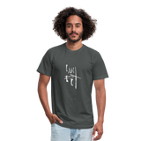 I Am Fit Unisex Jersey T-Shirt by Bella + Canvas - asphalt