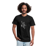 I Am Fit Unisex Jersey T-Shirt by Bella + Canvas - black