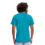 I Am Fit Unisex Jersey T-Shirt by Bella + Canvas - turquoise