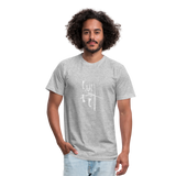 I Am Fit Unisex Jersey T-Shirt by Bella + Canvas - heather gray