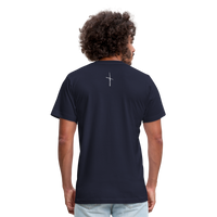 I Am Fit Unisex Jersey T-Shirt by Bella + Canvas - navy