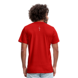 I Am Fit Unisex Jersey T-Shirt by Bella + Canvas - red