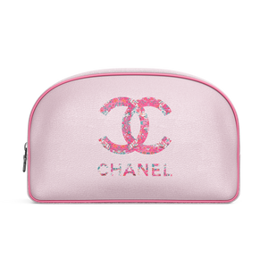 chanel cosmetic bag, chanel travel bag, chanel bag, chanel makeup bag