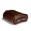 Dark Brown Leather Glass Flask 240mL