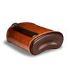 Dark & Tan Leather Glass Flask 240mL