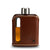 Dark Brown Leather Glass Flask 100mL