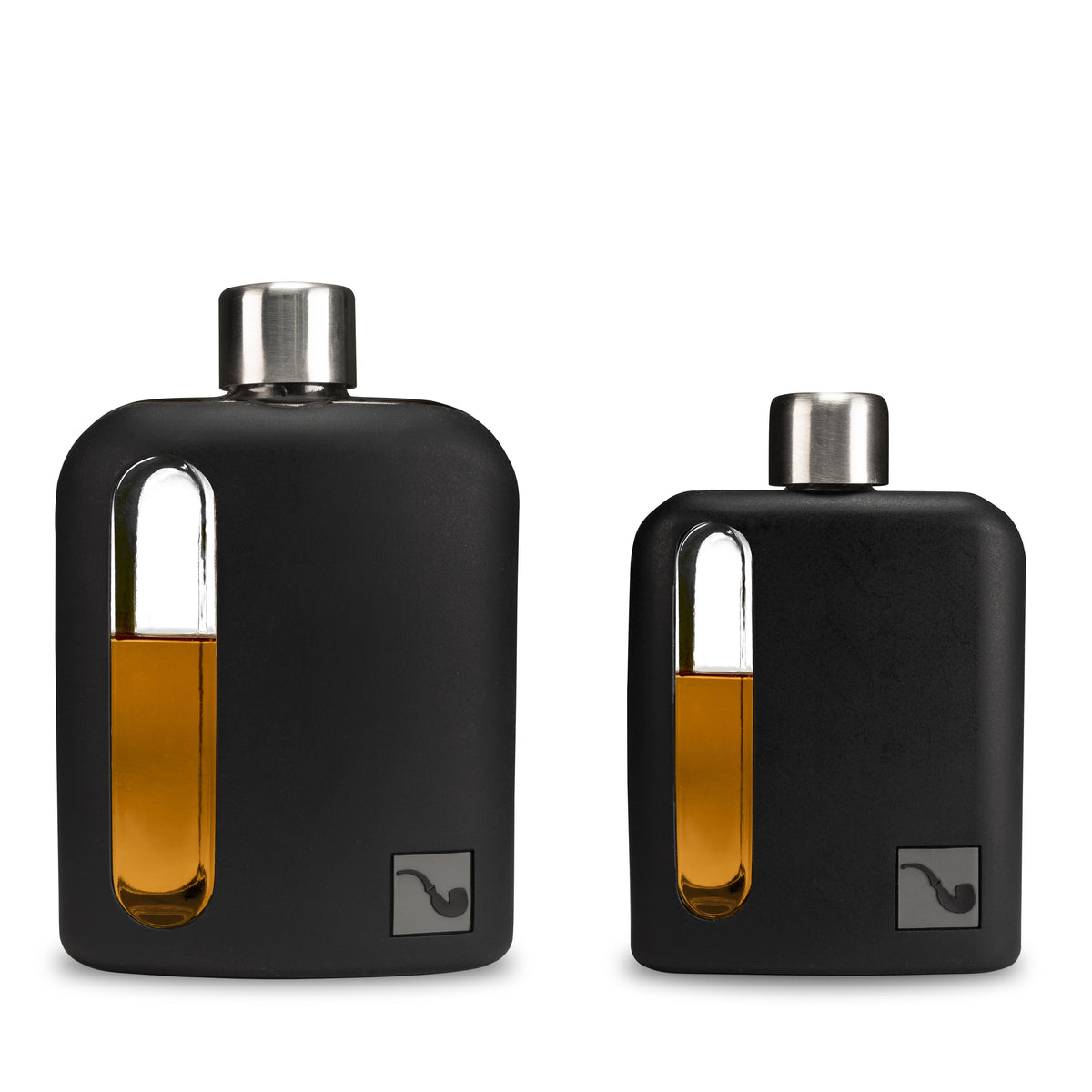 Black Silicone Glass Gift Set (100mL + 240mL)