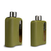 Military Green Silicone Glass Flasks 100mL + 240mL