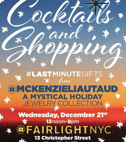 Fairlight Holiday Cocktails and Shopping