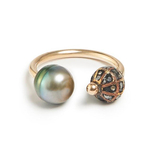 Caviar and South Sea Pearl Ring