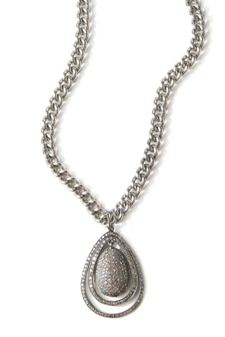 New Baroque Diamond + Steel  Necklace
