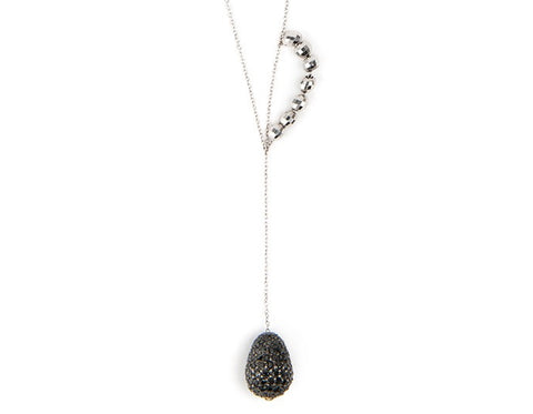 Black  Diamond Supearlbling Necklace