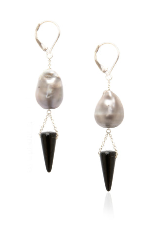 Grey Supearlspike Earrings