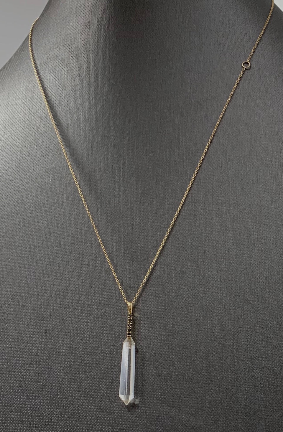 5 point Black Diamond & Quartz Necklace