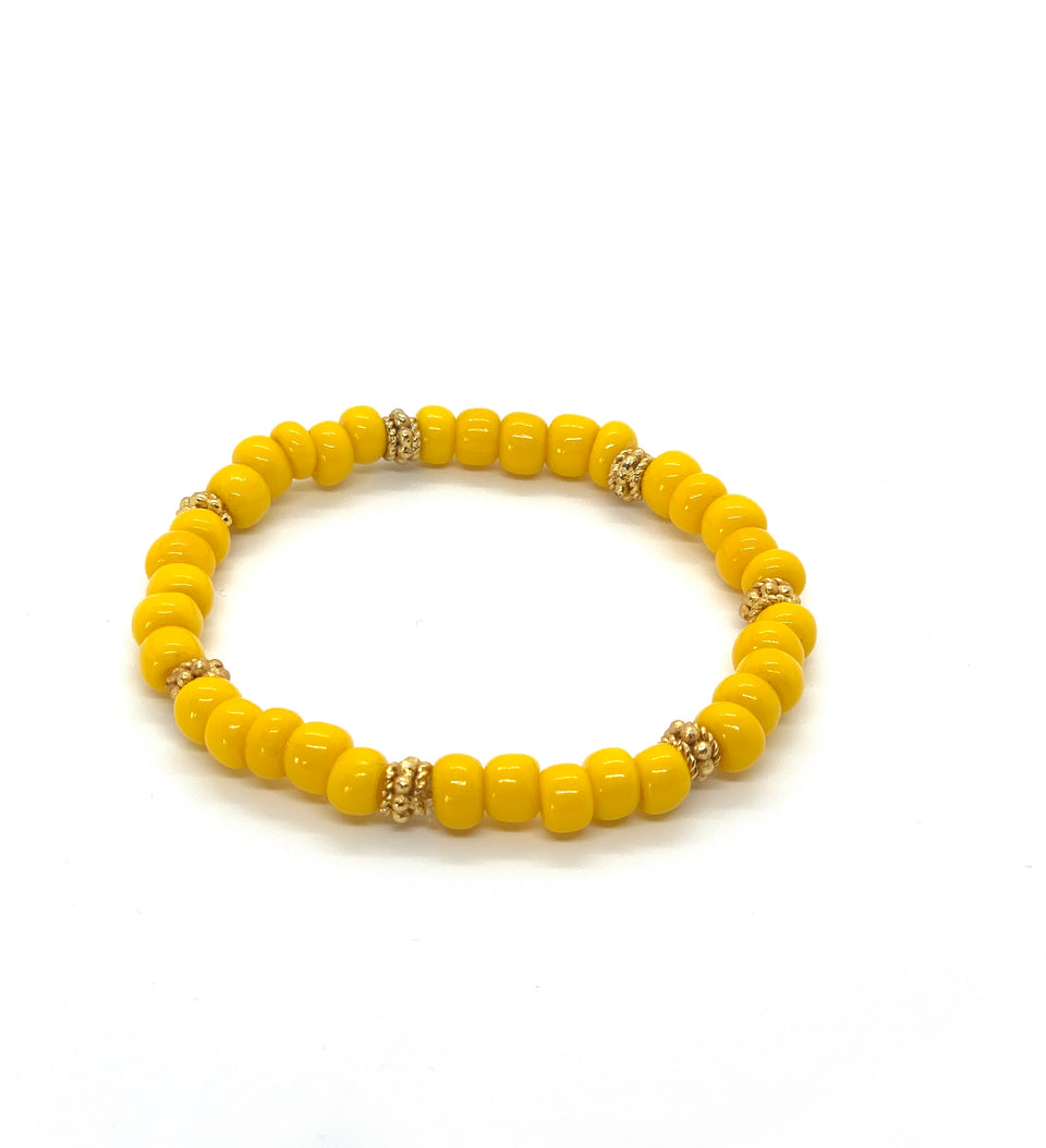 ML Yellow & Gold stretch bracelet