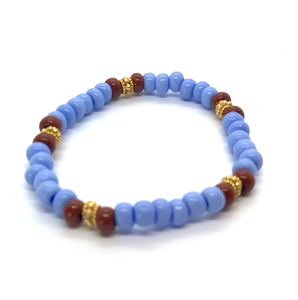 ML Sky blue & Gold bracelet