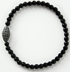 Mens Black-Tie Diamond Bracelet
