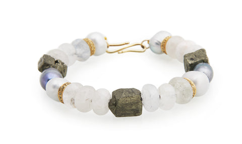 New Baroque multi gemstone bracelet
