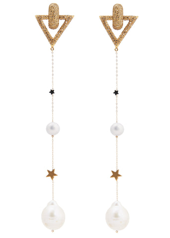 Starlight disco dangle earrings