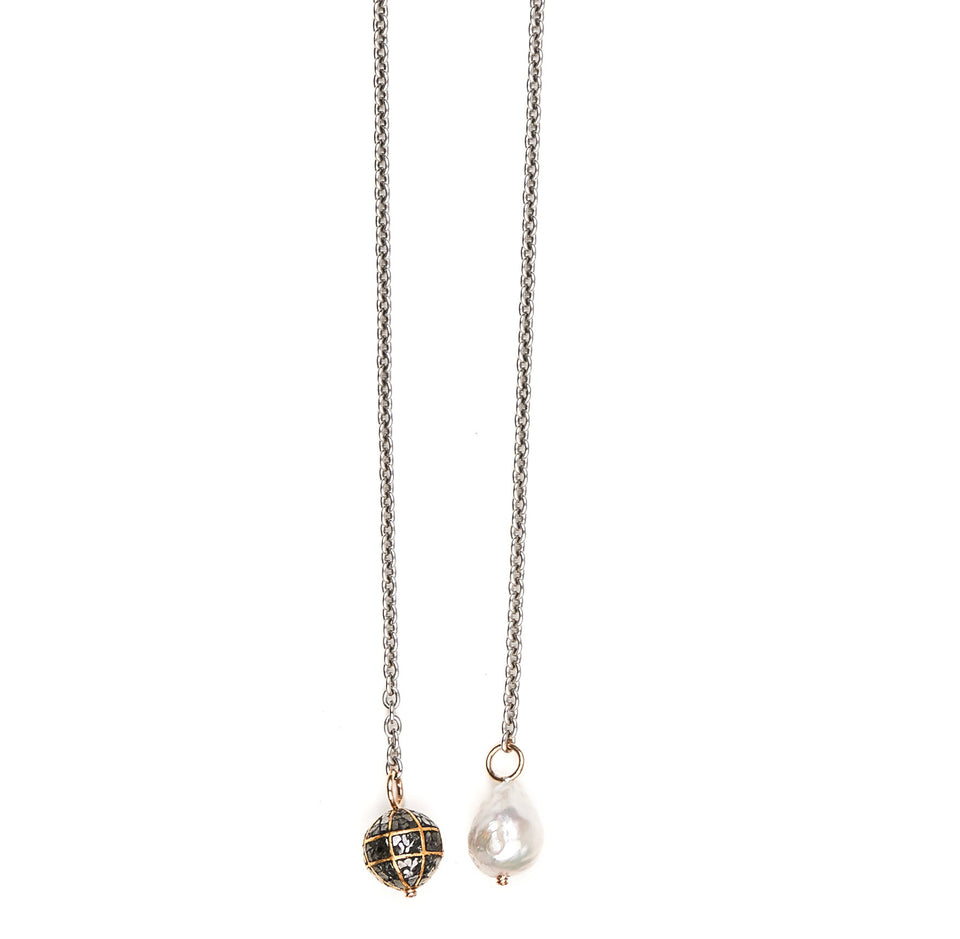 Champagne & Caviar Lariat Necklace