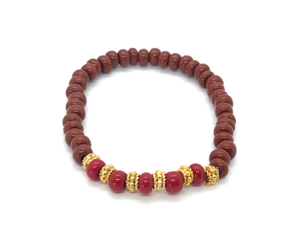 ML Brown & Gold stretch bracelet