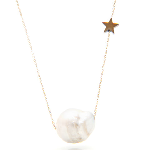 Supearlstar necklace 14K