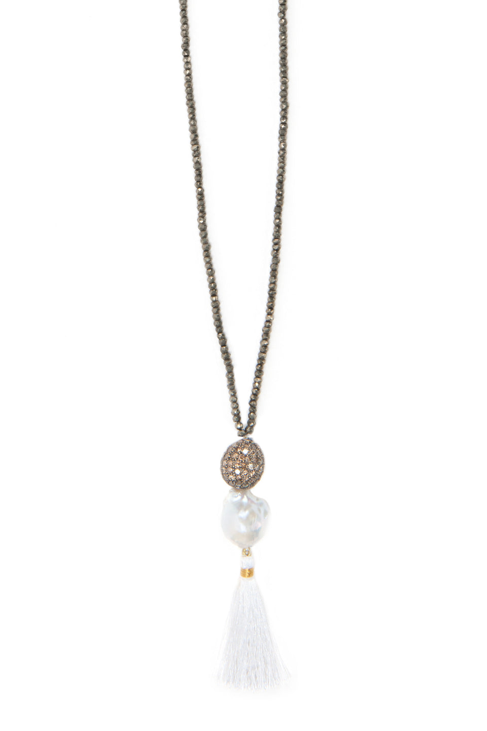Supearl Diamond Island Blacktie Necklace