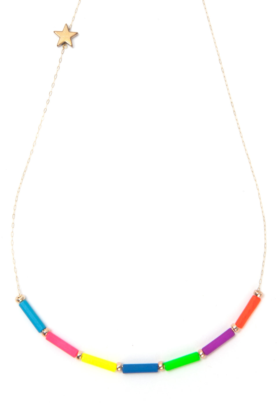 Rainbow Cosmic Chakras necklace