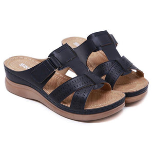 Dr. Care Premium Vintage Orthopedic Open Toe Sandal, Comfy Women Orthopedic Premium Sandals