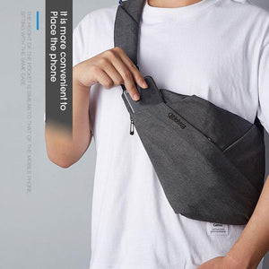 New Anti-Theft Canvas Chest Bag Man & Women Shoulder Travel Bags Cross Body Bag Personal Pocket Bag Deep Gray