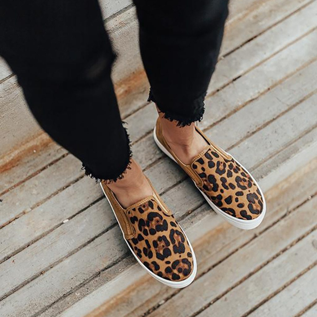 AZZY Premium Orthopedic Leopard Genuine Leather Loafer